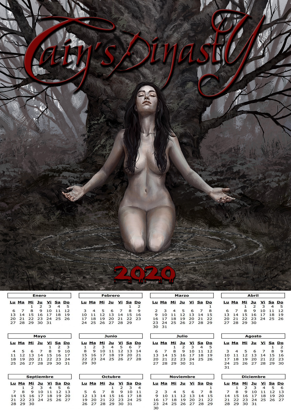 Calendario Cain's Dinnasty eva 2020